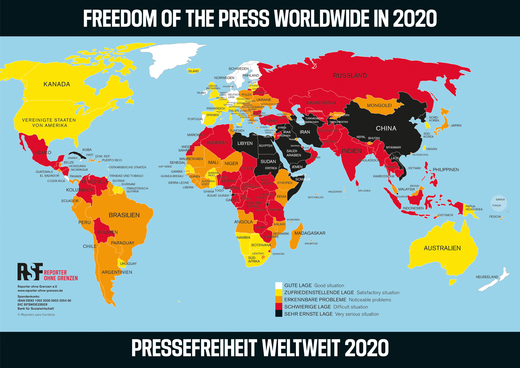 Freedom of the Press Worldwide 2020