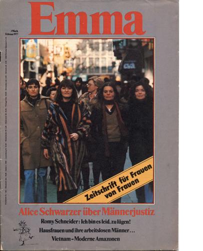 """1977 gründete Alice Schwarzer das frauenpolitische Magazin """"Emma""""."""