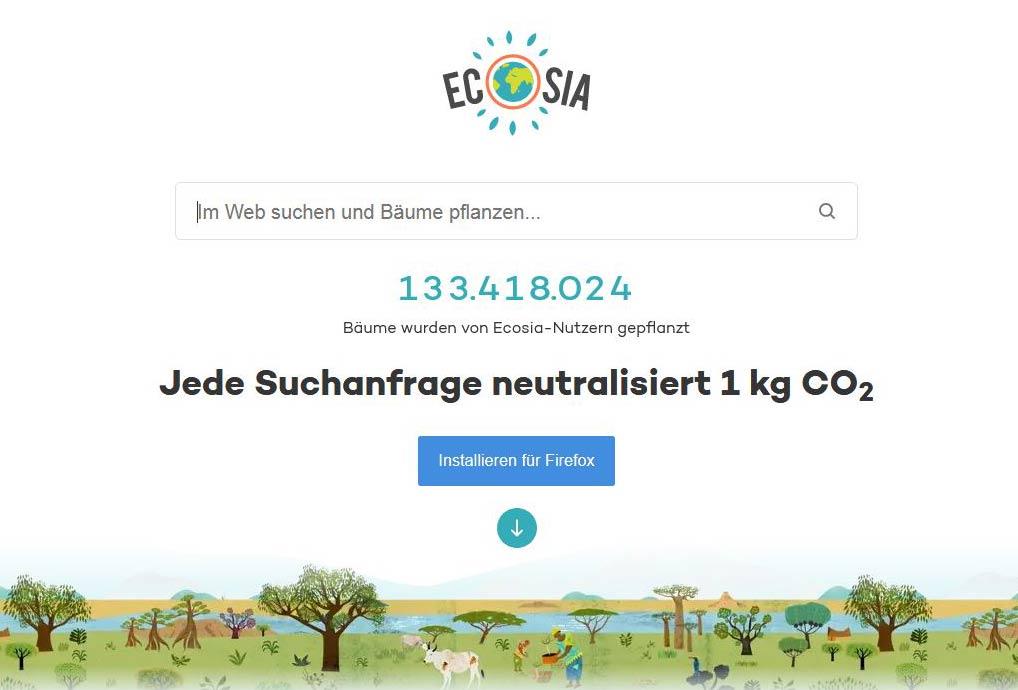 Screenshot Ecosia