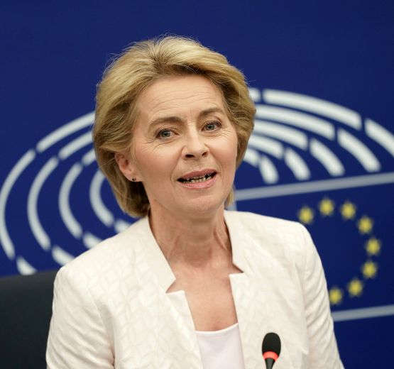 Ursula von der Leyen before the European Parliament