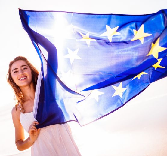 Symbol of unity: European flag