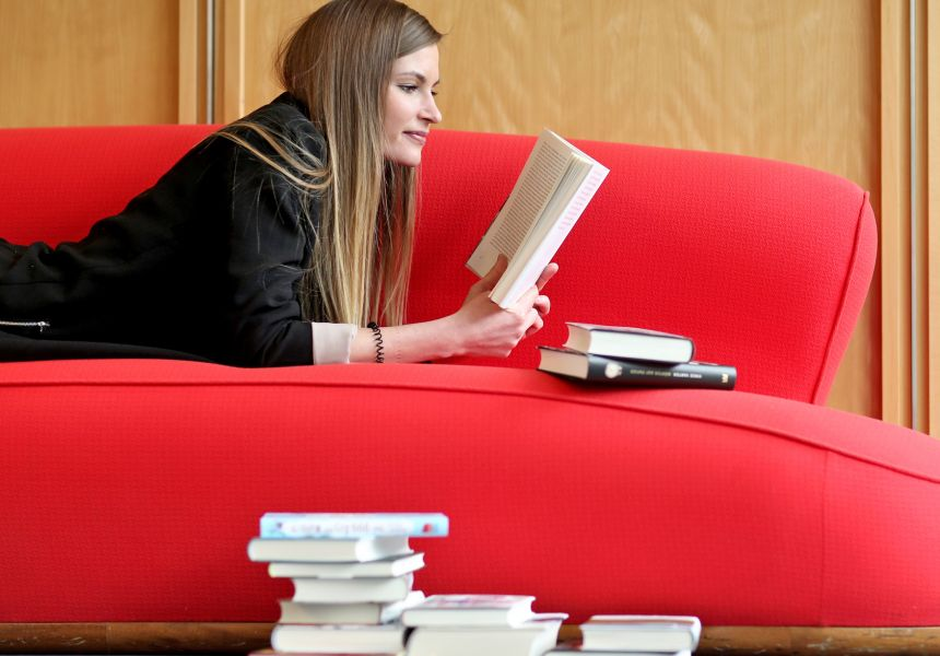 The sofa is people's favourite spot for reading
