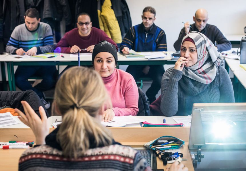 Unterricht des Refugee Teachers Program