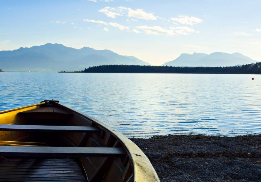 The Chiemsee in the Alpine foothills