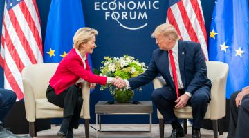 After their first meeting, EU Commission head Ursula von der Leyen and US President Donald Trump have struck a cautiously optimistic tone. Trump said he expects to make a trade deal, but hasn't ruled out car tariffs.