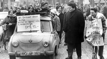1968: Student protests in Frankfurt am Main