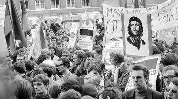 Student protests against the Vietnam War in Kiel in 1968