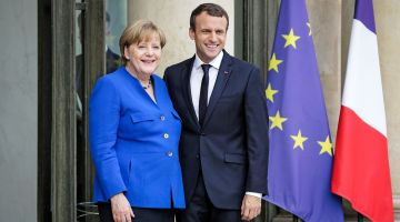Partners for Europe: Angela Merkel and Emmanuel Macron.