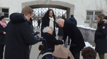 Joe Biden visiting the Dachau Concentration Camp Memorial Site in February 2015