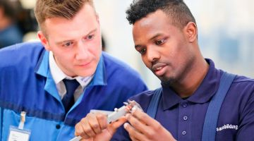Training in the automotive industry
