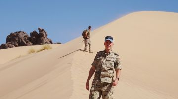 Captain Tobias Radon during his deployment in Western Sahara