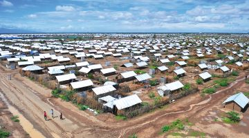View of the Kakuma refugee camp