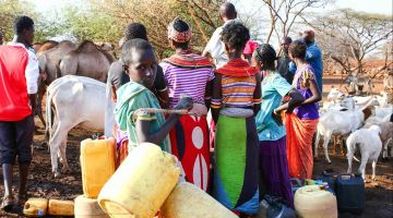 Drought, like here in Kenya, threatens the basis of life.