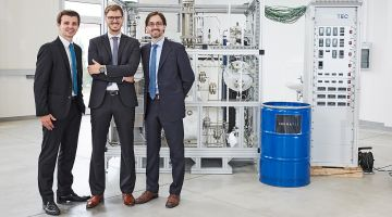 Ineratec founders Philipp Engelkamp, Tim Böltken, Paolo Piermartini