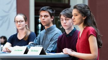 Fridays for Future Germany (left to right): Svenja Kannt, Sebastian Grieme, Linus Steinmetz and Sana Strahinjic