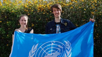 UN youth delegates for Germany: Antonia Kuhn and Lukas Schlapp.
