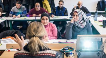 Un cours du Refugee Teachers Program à Potsdam.