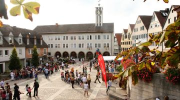 The market square in Böblingen