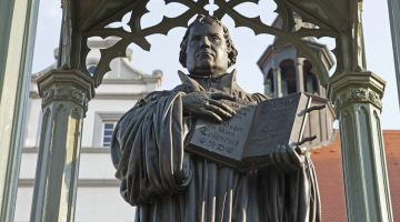 Farsighted: Martin Luther's message went out into the world from Wittenberg. ­