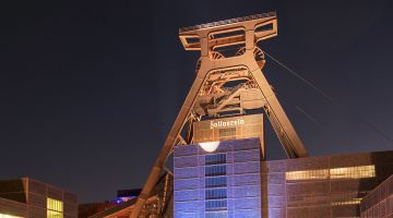 Essen, dans le bassin de la Ruhr : l'ancienne mine de charbon Zollverein.