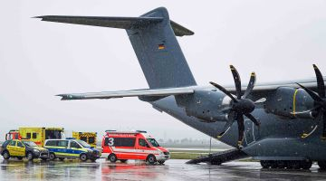 Airlifting intensive-care patients to Germany
