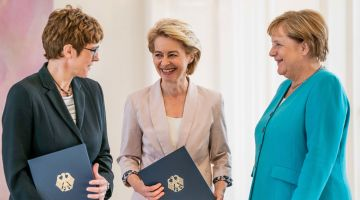 Almost half the members of the German cabinet are female.
