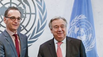 Germany in the UN Security Council: Foreign Minister Heiko Maas and UN Secretary-General Antonio Guterres