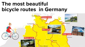 The most beautiful bicycle routes  in Germany