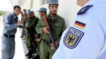 Police training in Afghanistan
