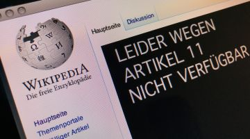 Wikipedia aus Protest