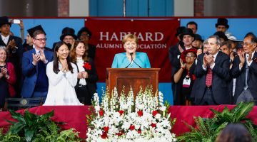 Angela Merkel an der Harvard Universität