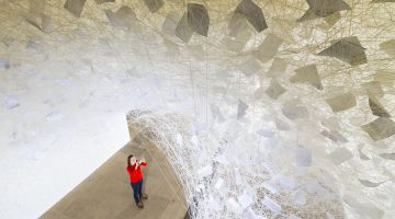 "Installation ""Beyond Time"" by Chiharu Shiota"