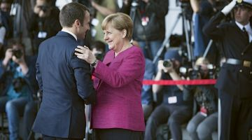 German Federal Chancellor Angela Merkel and French President Emmanuel Macron