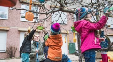 Playing and learning: Maria Müller is a preschool teacher in Berlin.