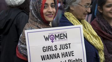 Women's rights rally in Islamabad in 2019.