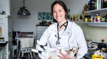 Helping animals – Janine Sommer's dream job.
