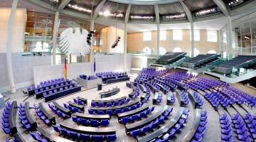The German Parliament: the Bundestag in Berlin.