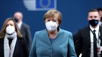Chancellor Angela Merkel at the EU Summit