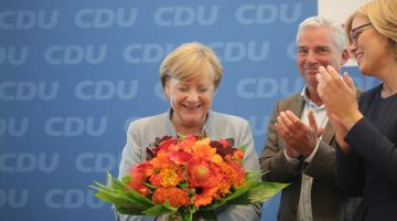 In 2017, the CDU won the federal election with Angela Merkel.