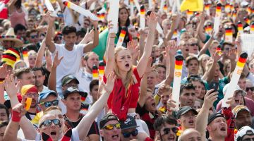 2018 FIFA World Cup: Brandenburg Gate Fan Fest in Berlin.