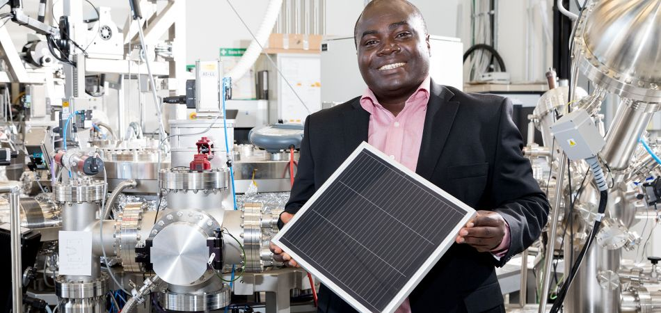"Expert on ""green"" hydrogen: physicist Solomon Nwabueze Agbo."