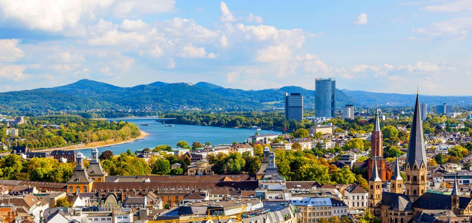 Bonn on the River Rhein