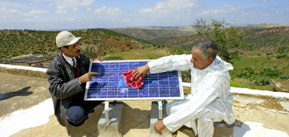 With German help, Morocco is increasing its use of photovoltaic technology.