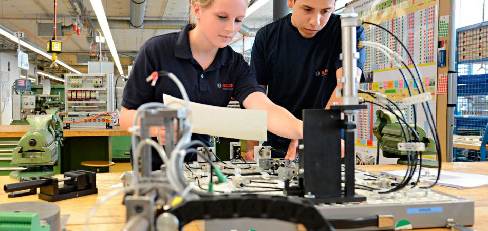 German dual education system: paid on-site workforce training.
