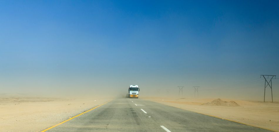 Highway in Namibia