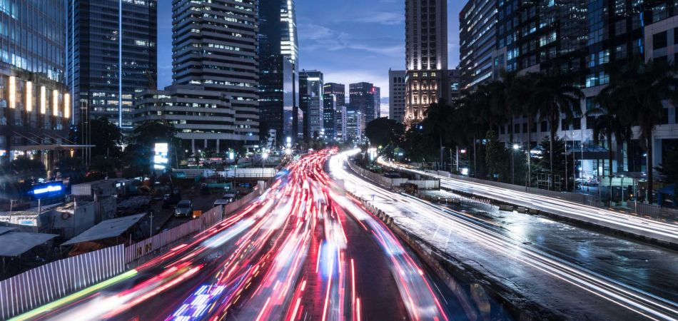 Rush hour in Jakarta's business district
