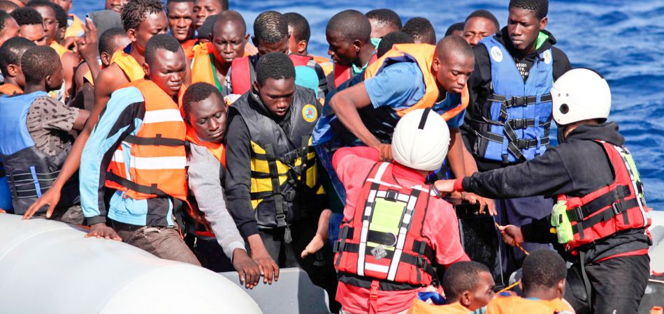 A rescue operation by the organization Lifeboat