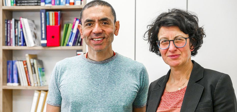 The husband-and-wife research team Özlem Türeci and Ugur Sahin.