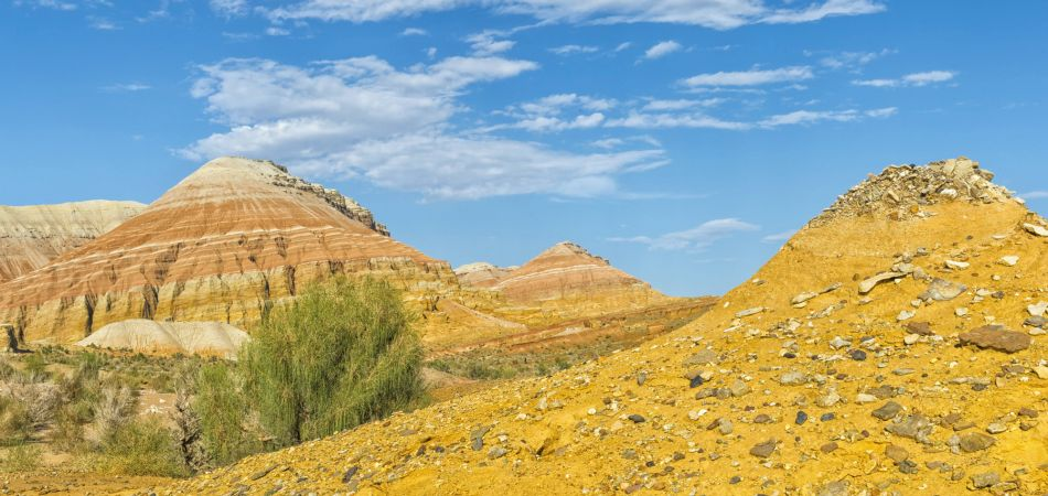 Threatened by climate change: The Aktau mountains in Kazakhstan.