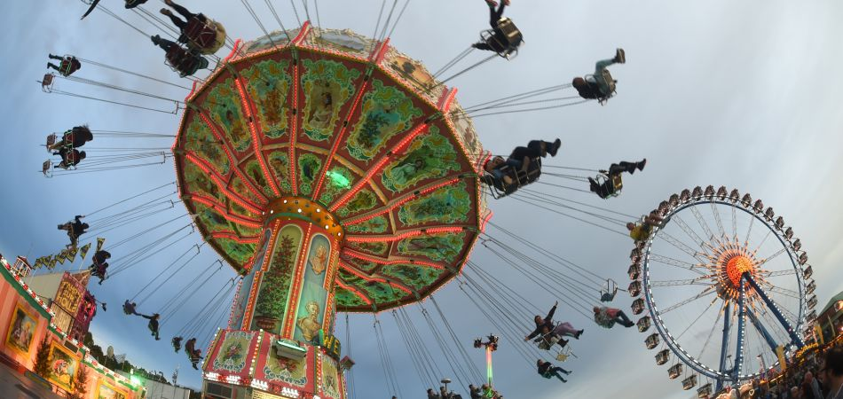Public festivals: merry-go-round at the Oktoberfest in Munich.